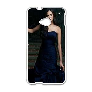 HTC One M7 Cell Phone Case White Nina Dobrev Elegant Dress SU804857