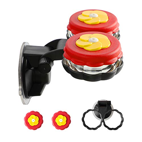 ORIENTOOLS Handheld Hummingbird Feeders with 1 Window Mount Suction Cup Accessory (2 Pack)