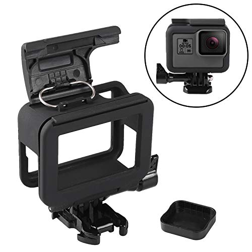 JINHEZO JINHEZO-CS-348 Frame Clear View Protective Skeleton Housing Case Shell with Lens for Hero 5 / Hero 6 / Hero 7, Black