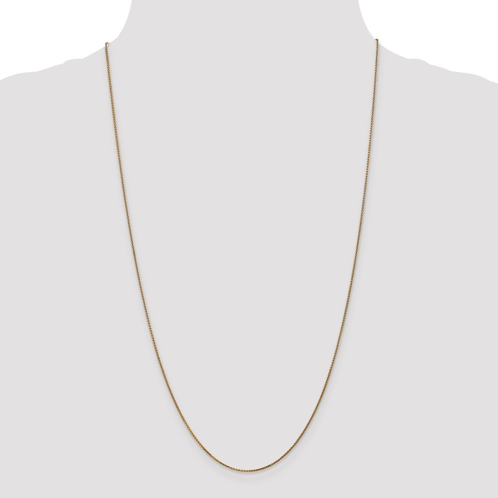 ICE CARATS 14k Yellow Gold 1mm Solid Spiga Chain Necklace 24 Inch Wheat Fine Jewelry Gift Set For Women Heart by ICE CARATS (Image #4)