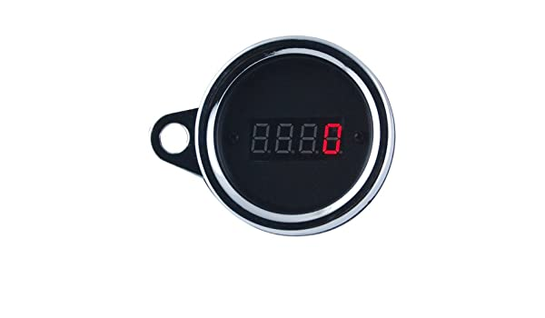 THG LED rojo 2.3 Racing digital ahumado Tacho tac/¨/®metro del metro del calibrador 0-9999 RPM aluminio Fit 12V Crucero Chopper Bike Racing