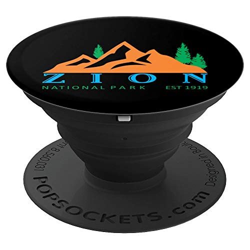 Vintage Zion National Park Hiking Trail - PopSockets Grip and Stand for Phones and Tablets