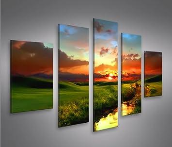 Landschaft MF 5 Quadri moderni su tela - pronti da appendere ...
