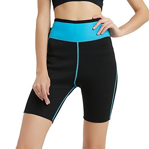 659dd0b91bf Hanmeimei Women s Slimming Pants Neoprene for Lose Weight Fat Burning Sweat  Sauna Capris Leggings Body Shapers - Buy Online in Oman.