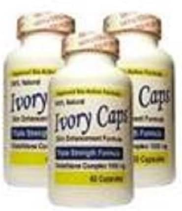 3 Ivory Caps Glutathione Skin Whitening 1500 Mg Thistle Fast Shipping By Viyada Shop