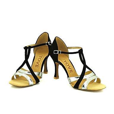 baile Personalizables Personalizado Oro silver de Rojo Tacón Salsa Plata Zapatos Latino Azul Morado gp5zcBRq
