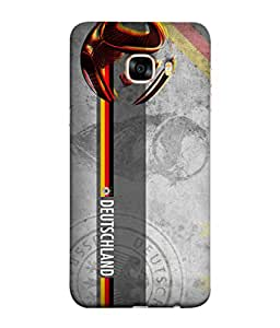 ColorKing Football Germany 29 Grey shell case cover for Samsung C7