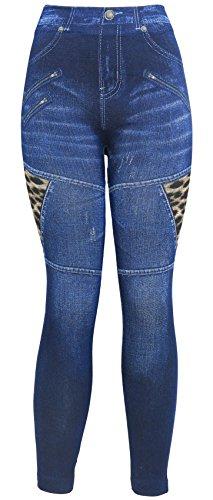 Blue Denim Leggings - 3