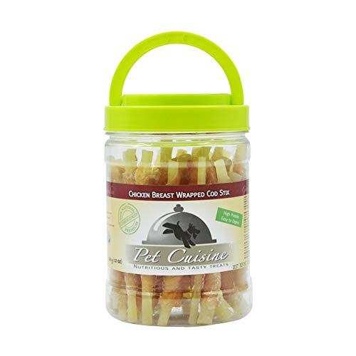 (Pet Cuisine Dog Treats Puppy Chews Training Snacks,Chicken Breast Wrapped Cod Stix,12 oz)