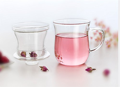 Kendal 10 oz Glass Filtering Tea Maker with infuser Teapot Tea Cup CJ-300 by Kendal (Image #4)