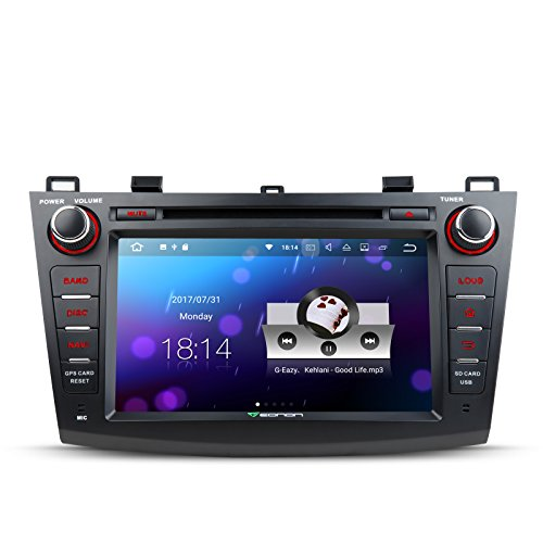 Eonon GA8163 Android 7.1 Nougat 7 Inch Car Stereo in Dash GPS Radio Stereo Touch Screen Radio Audio for Mazda 3 Series 2010-2013 Quad Core 2GB Ram with DVD Player Bluetooth Head Unit