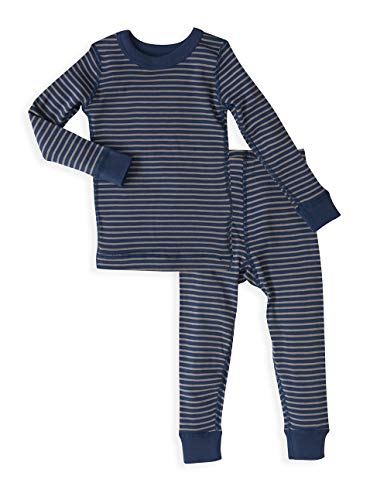 Skylar Luna Toddler Long Sleeve Blue/Grey Stripe Pajamas