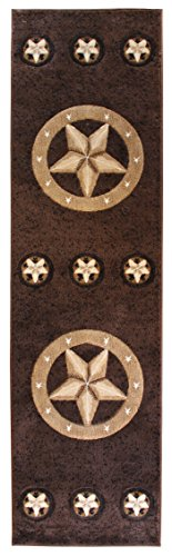 Rugs 4 Less Collection Texas Lone Star State Novelty Runner Area Rug R4L 78 Chocolate / Brown (2'x7′) Review