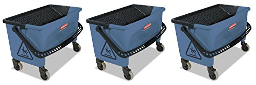 Rubbermaid Commercial Finish Mop Bucket with Wringer, 28-Quart, Blue (3 PACK) by Rubbermaid Commercial Products