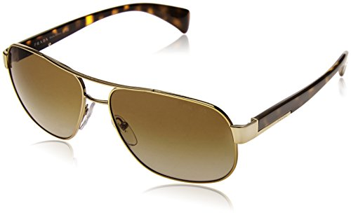 Prada Gold Lens (Prada Sunglasses - PR52PS / Frame: Pale Gold Lens: Grey Gradient)