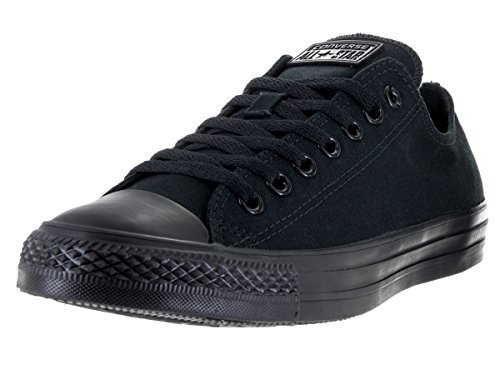 Converse Unisex Chuck Taylor All Star Ox Low Top Classic Black Monochrome Sneakers - 6.5 Men 8.5 Women (All Star Black Ox Shoes)