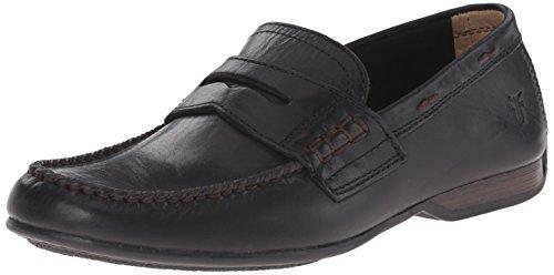 Lewis Leather - FRYE Men's Lewis Penny, Black Soft Vintage Leather-80267, 13 M US