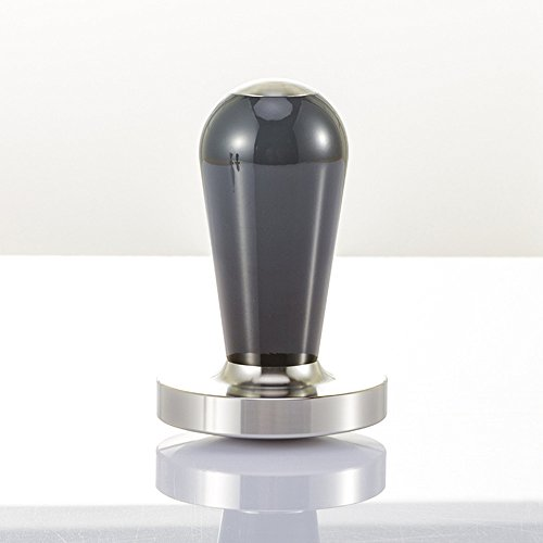 Espresso Coffee Tamper 51MM 57.5MM, Choose your types, Stainless Steel Espresso Press Flat Base.(Black Red) (57.5MM, Black)