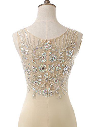 solovedress Rosado vestido de sirena la de de vestido elastano largo elástico baile de noche mujer con del Tejido cuentas dama rHwSfrq
