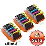 Canon CLI8 / PGI5 WITH CHIP - 3 x Multipack Canon Compatible Printer Ink Cartridges for Canon Pixma MP500 MP530 MP600 MP600R MP610 MP800 MP800R MP810 MP830 iP4200 iP4300 iP4500 iP5200 iP5200R iP5300 Printer Inks CLI-8 / PGI-5 (Contains: CLI-8C, CLI-8Y, CLI-8M,CLI-8B, PGI-5BK) Highest quality by Cobrainks