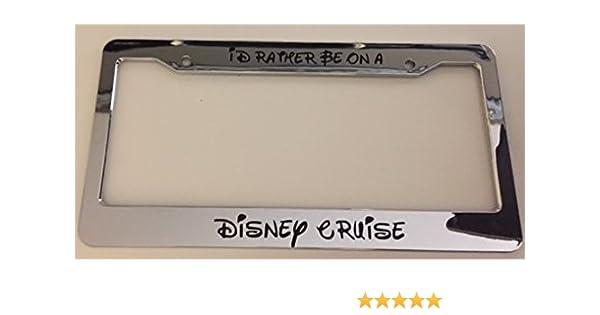 Amazon.com: I\'d Rather Be On A Disney Cruise Cursive - Chrome ...