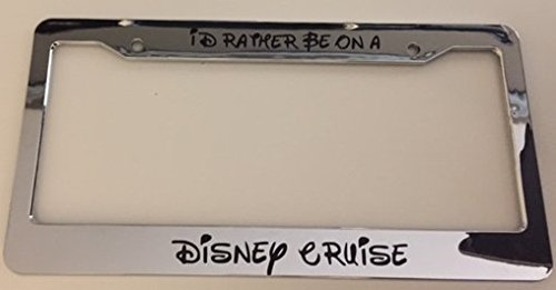 chrome license plate frame disney - 6