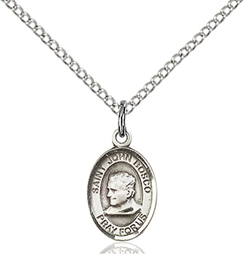 Sterling Silver St. John Bosco Pendant with 18