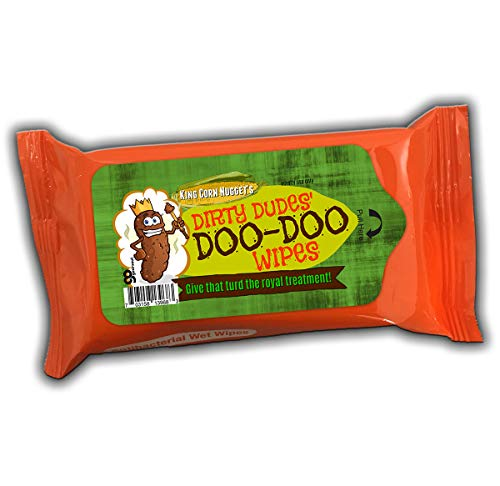 Dirty Dudes' Doo-Doo Wipes Alcohol Free Antibacterial Wipes Weird Gags for Men Stocking Stuffers for Guys White Elephant Ideas Secret Santa Travel Size Funny Sanitizer Wipes