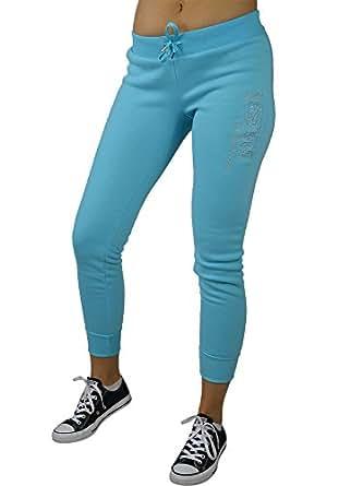 LnLClothing Women's 1982 California Fleece Sweatpants, Blue, Small