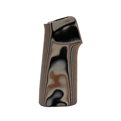 - Hogue 13747 AR15/M16 15 Degree Vertical No Finger Groove Grip, Smooth, G10 G-Mascus, Dark Earth