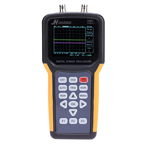 Dual Channel Oscilloscope (KKmoon Handheld 2 Channels Oscilloscope Scope Meter 20MHz Digital TFT LCD Bandwidth 200MSa/s Sample Rate)