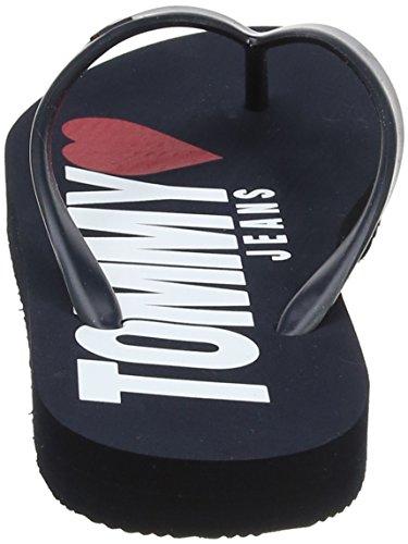 Blu 406 Donna Infradito Tj Navy Denim Love Tommy Beach Sandal Hilfiger BfqwTF0gB