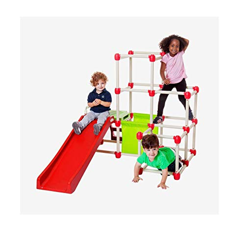 Lil' Monkey Jungle Gym - Everest Climb N Slide Playground - Monkey Bars & Dome...