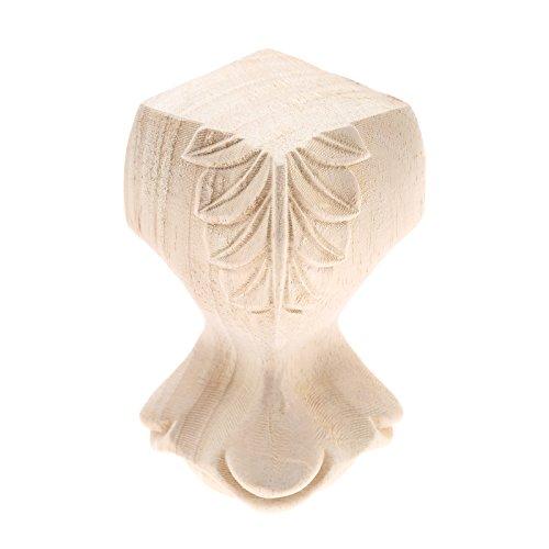 European Furniture Solid Legs Carved Wood Foot Used in Bathroom Cabinet Wood 12x5cm