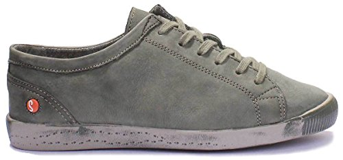 washed Softinos Forêt Derbies à femme lacets leather Isis 8Z5ZPwqH