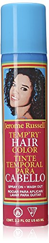 jerome russell Temporary Spray, Blue (Temporary Black Hair Dye Spray)