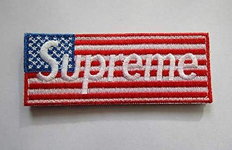Supreme Militar Parche de tela bordado insignias parche Tactical pegatinas para ropa con gancho y bucle: Amazon.es: Juguetes y juegos
