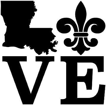 I Love Louisiana Sticker Decal Die-Cut Vinyl 2