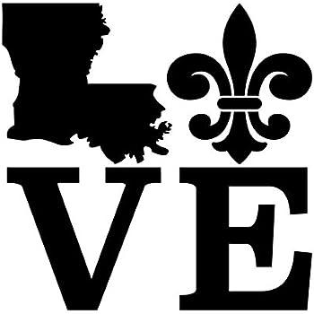F1037 Louisiana Fleur De Lis Decal Sticker New Orleans Saints Laptop Surface Art