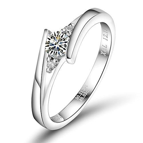 Lanmi New Jewelry Solid Platinum Pt900 Natural Brilliant Diamond Wedding Engagement Ring