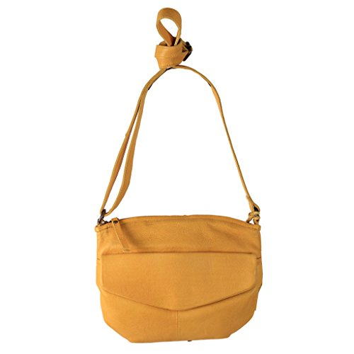 Latico Leathers Penn Cross Body Bag Genuine Authentic Luxury Leather, Designer Made, Business Fashion and Casual Wear, Yellow by Latico