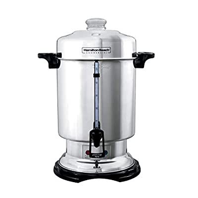 Hamilton Beach Commercial Stainless Steel Coffee Urn, 60 Cup Capacity D50065