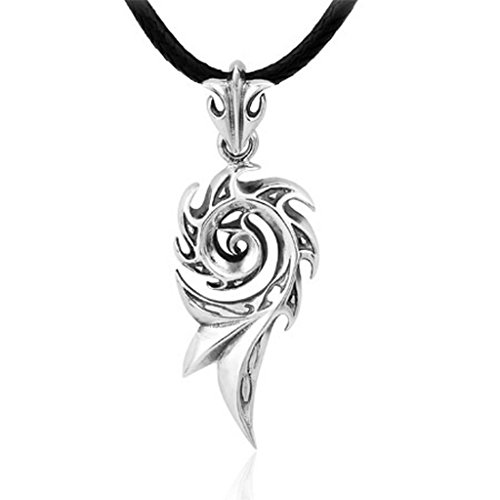 AnaZoz Stainless Steel Mens Womens Necklace Pendant Pure Sterling Silver Flower by AnaZoz