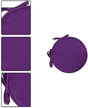 Monbedos Juego de 4 Cojines Redondos para Asiento 30 cm Color Beige