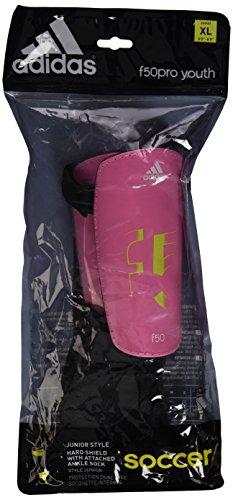adidas Performance Youth F50 Shin Guard, Pink Zest/Solar Sli