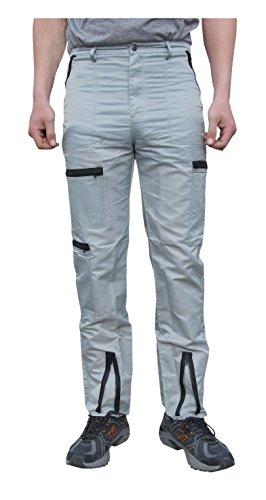 Countdown Classic Nylon 80s Parachute Pants (32, Grey/Black) by Countdown