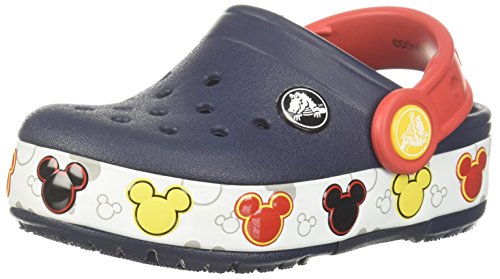 Crocs Unisex Crocband Mickey FnLb Lights K Clog, Navy, 1 M US Little Kid