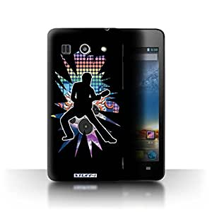 STUFF4 Phone Case / Cover for Huawei G520 / Stretch Black Design / Rock Star Pose Collection