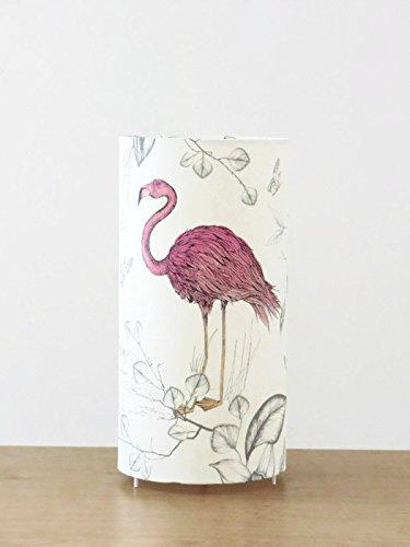 lampe tube motif flamant rose Luminaire original dé co chambre idee cadeau anniversaire naissance lampe chevet cadeau cré maillè re lampe a poser flamingo exotique tropical