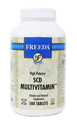 Multivitamin 180 Tabs - Freeda SCD Multivitamin - 180 Tablets